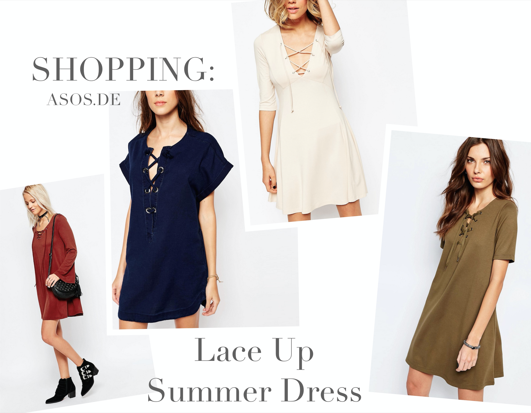 Shopping: Lace Up Summer Dress – below 20€