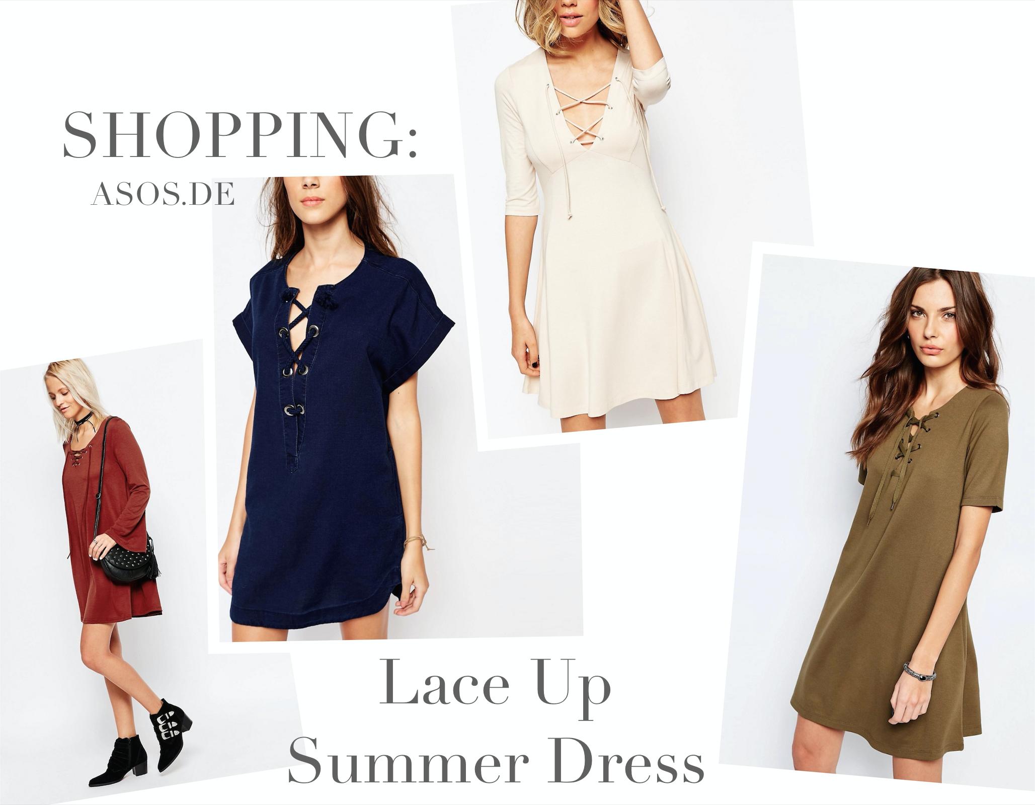 Shopping: Lace Up Summer Dress – below 20€